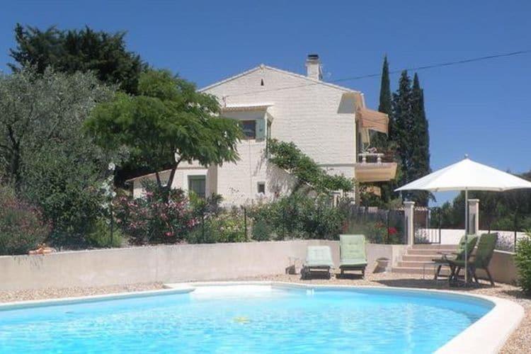 Vinsobres Vakantiewoningen te huur Twee prachtige appartementen op begane grond van villa bij wijndorpje Vinsobres