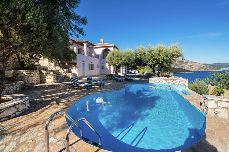Griekenland | Lefkas | Villa te huur in Sivota-Lefkas met zwembad  met wifi 10 personen