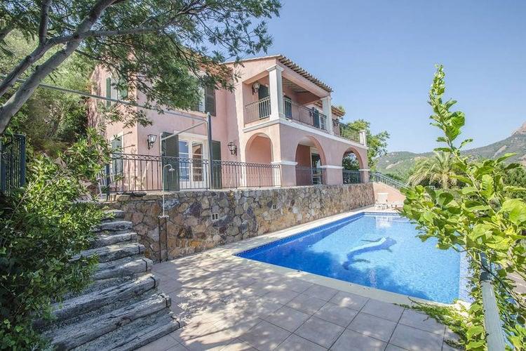 Vakantiehuizen Frankrijk | Provence-alpes-cote-d-azur | Villa te huur in Saint-Raphael met zwembad  met wifi 10 personen