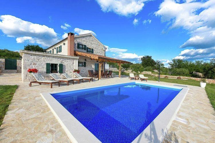 Kroatie | Dalmatie | Villa te huur in Posedarje met zwembad  met wifi 8 personen