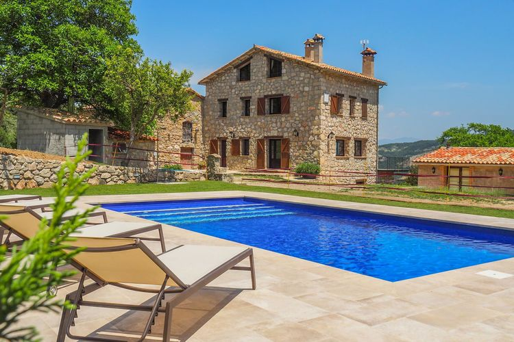 Catalunia Vakantiewoningen te huur Traditionele stenen huis met prive zwembad voor 10 personen in Vallcebre