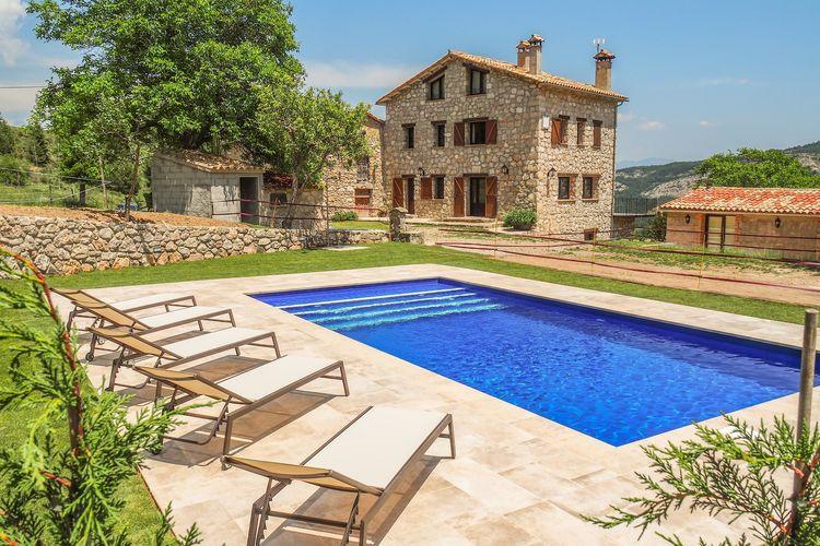 Vakantiehuis met zwembad met wifi aan zee Vallcebre  Belians