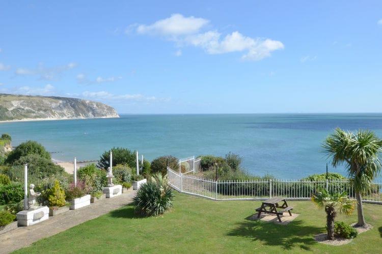 Vakantiewoning  met wifi  Swanage  Knus appartement voor twee met balkon en prachtig uitzicht op de blauwe zee