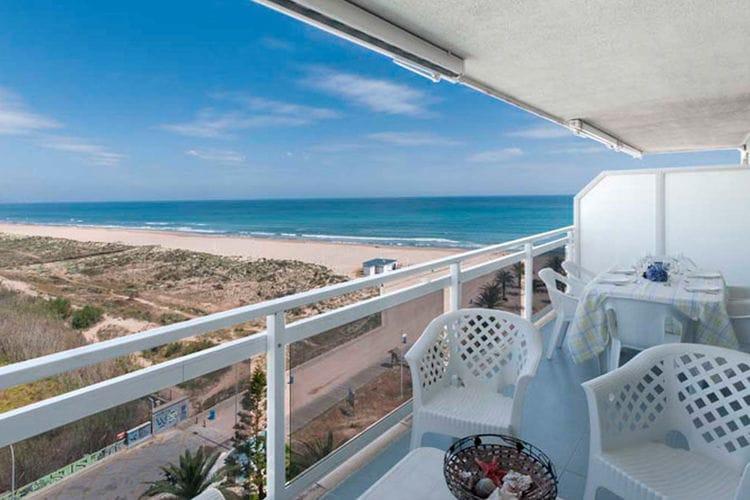 Costa Blanca Appartementen te huur Luxe appartement op 35 meter van Gandia Beach en prachtig uitzicht op zee