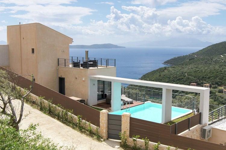 Griekenland | Lefkas | Villa te huur in Sivota met zwembad  met wifi 8 personen