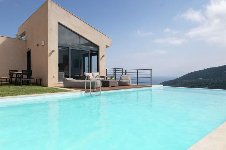 Griekenland | Lefkas | Villa te huur in Sivota met zwembad  met wifi 6 personen