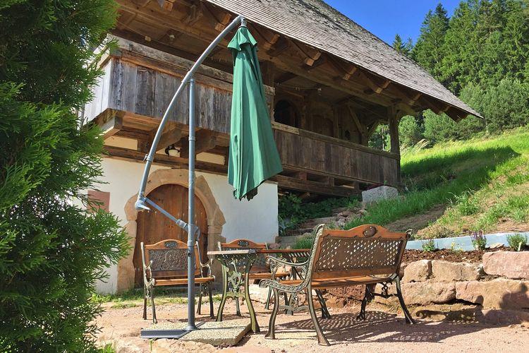 Vakantiewoning  met wifi  Alpirsbach-Reinerzau  Vrijstaand vakantiehuis op een zuidelijke helling met sauna en heerlijk uitzicht