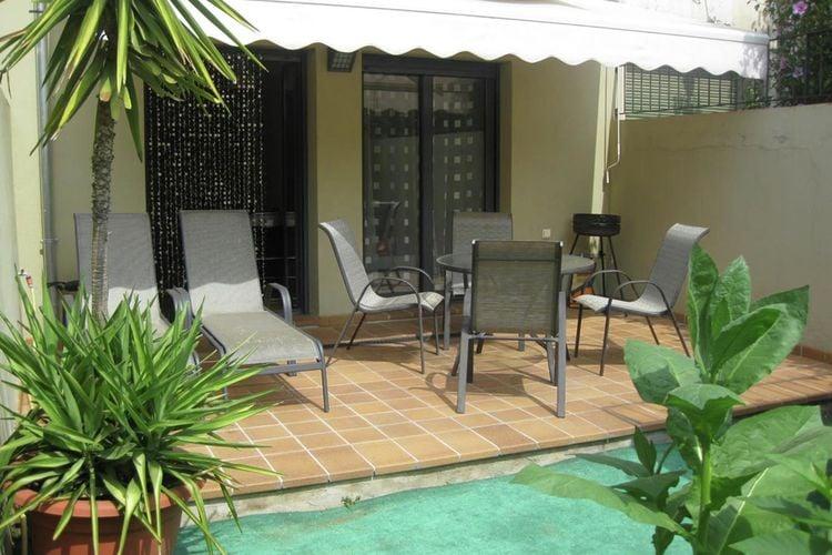 Modern appartement voor 4 personen in het centrum van Girona met mooi terras