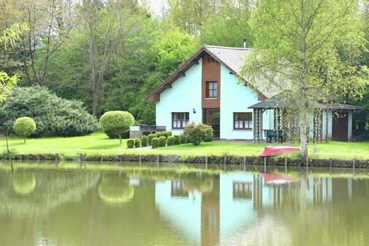 Belgie Chalets te huur Het paradijs voor vissers! Eenvoudig huis aan een grote vijver, absolute rust