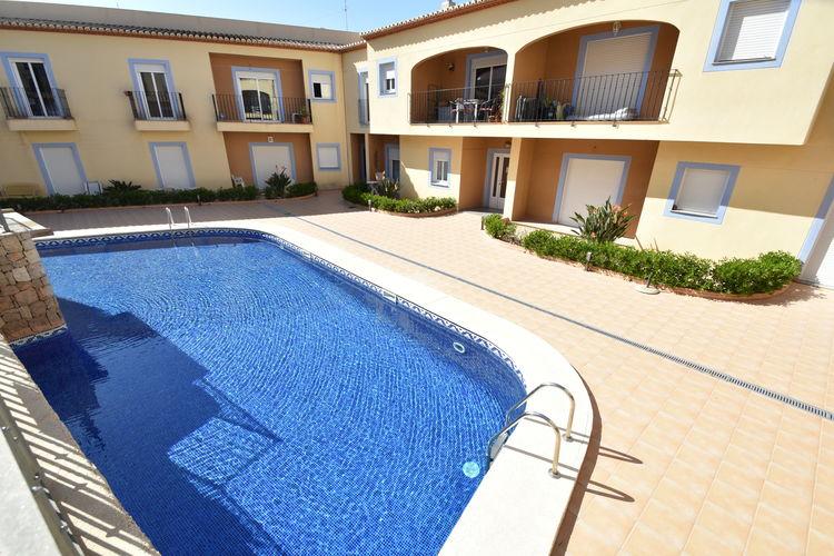 Spanje | Costa-Blanca | Appartement te huur in Moraira met zwembad  met wifi 4 personen
