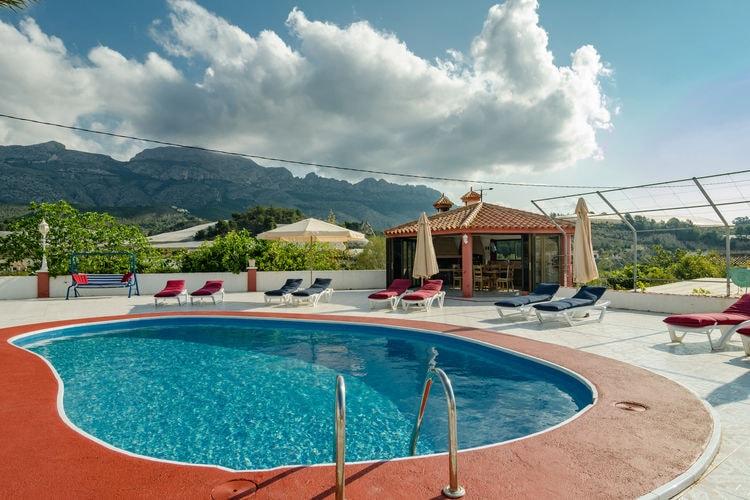 Spanje | Valencia | Villa te huur in Callosa-den-Sarria met zwembad aan zee met wifi 8 personen