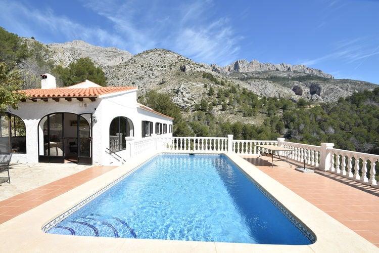 Vakantiehuizen Spanje | Costa-Blanca | Villa te huur in Altea met zwembad  met wifi 5 personen