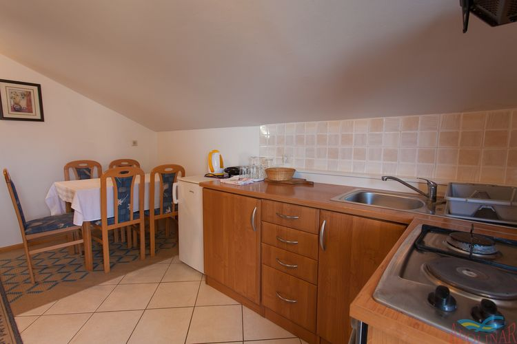 Appartement Kroatië, eld, Malinska Appartement HR-00005-33