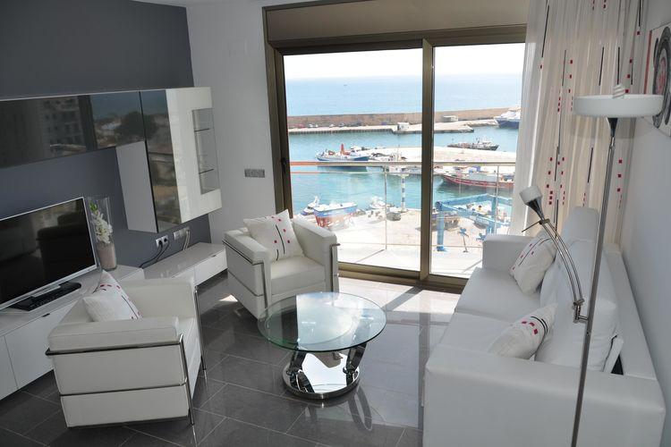 Costa Dorada Vakantiewoningen te huur Modern appartement voor 6 in l'Ametlla de Mar met prachtig uitzicht op de haven