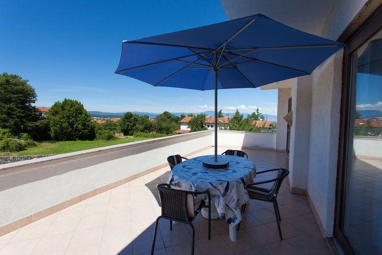 Malinska Appartementen te huur Comfortabel appartement met groot terras en uitzicht op zee!