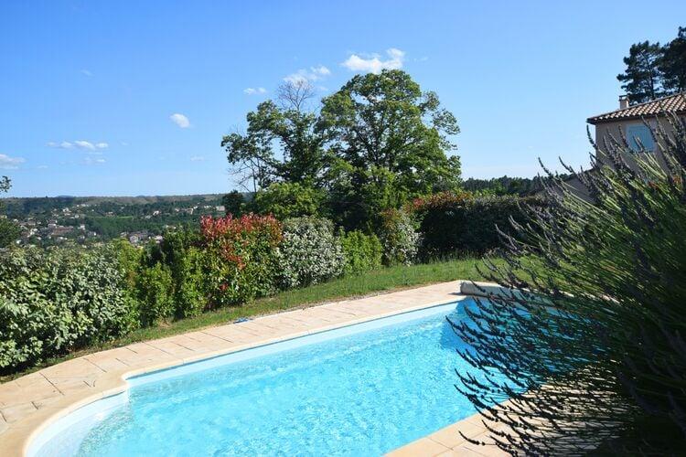Vakantiehuizen Frankrijk | Ardeche | Villa te huur in Joyeuse met zwembad  met wifi 6 personen