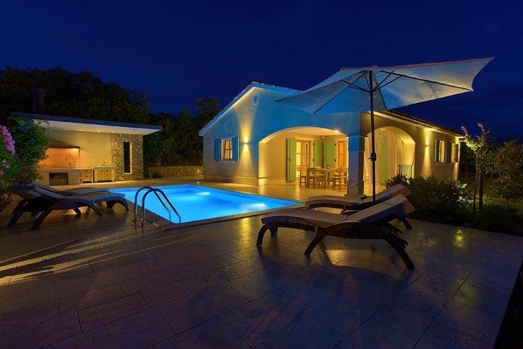 Kroatie | Eld | Villa te huur in Dobrinj met zwembad  met wifi 6 personen