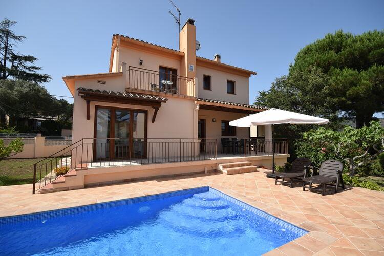 Vakantiehuizen Spanje | Costa-Brava | Villa te huur in Calonge met zwembad  met wifi 8 personen