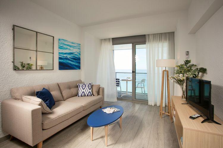 Blanes Vakantiewoningen te huur Appartement vier personen direct aan het strand van de Costa Brava in Blanes