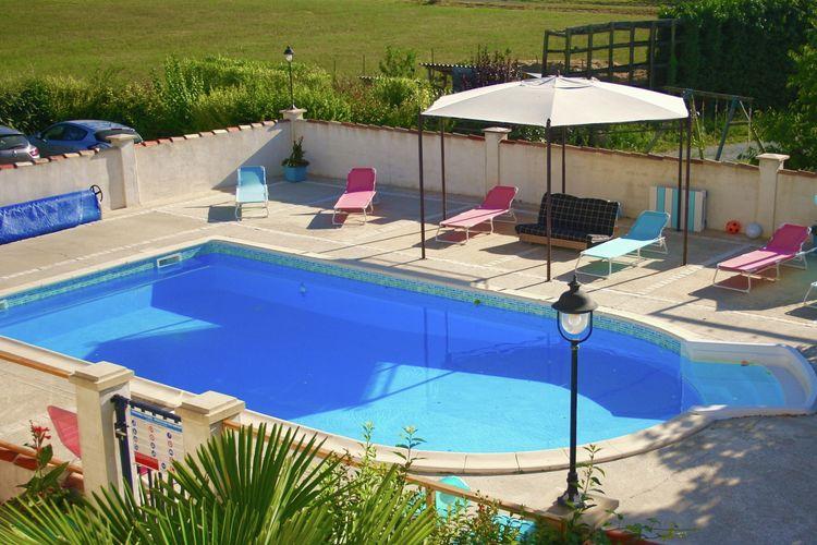 Frankrijk | Cote-Atlantique | Vakantiehuis te huur in Fleac-sur-Seugne met zwembad  met wifi 11 personen