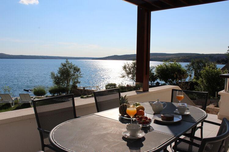 Kroatie | Dalmatie | Villa te huur in Jasenice-Maslenica   met wifi 7 personen