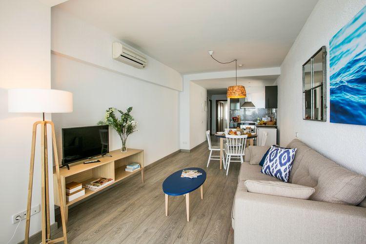 Blanes Vakantiewoningen te huur Appartement 3 personen direct aan het strand van de Costa Brava in Blanes