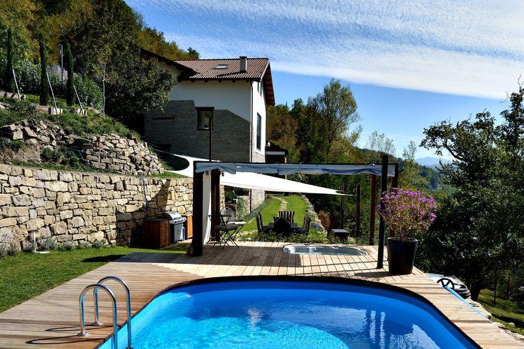 Piemonte Vakantiewoningen te huur Villa met outdoor grill, eethoek, verwarmd zwembad en whirlpool