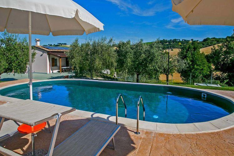 Vakantiehuizen Italie | Marche | Villa te huur in Fossombrone met zwembad  met wifi 10 personen