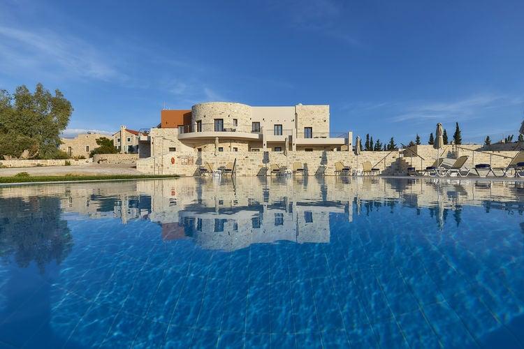 kreta Vakantiewoningen te huur Nieuw mooi complex villas en app., groot zwembad, prachtig zeezicht, ZuidW Kreta