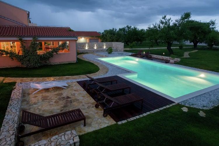 Villa Kroatië, Dalmatie, Skabrnje Villa HR-23223-02