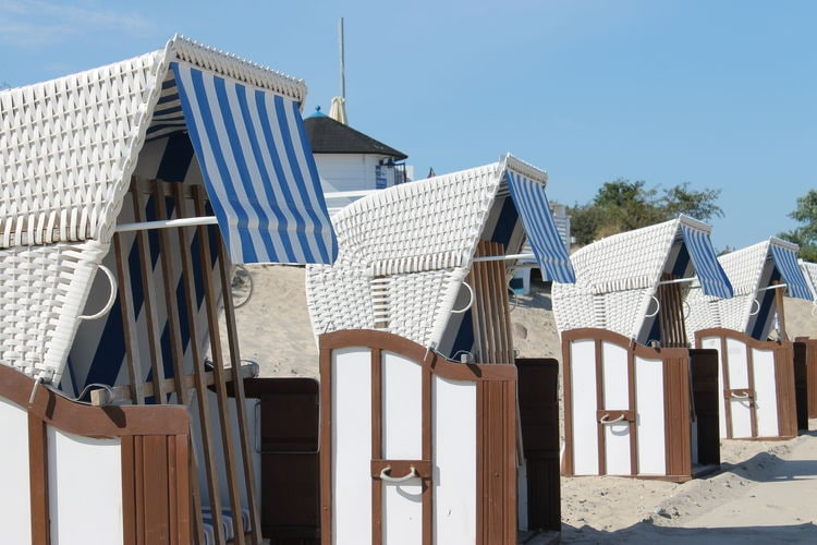 Bungalow  met wifi  Börgerende  Rietgedekte Finnhütte, vlakbij het strand en rustige locatie