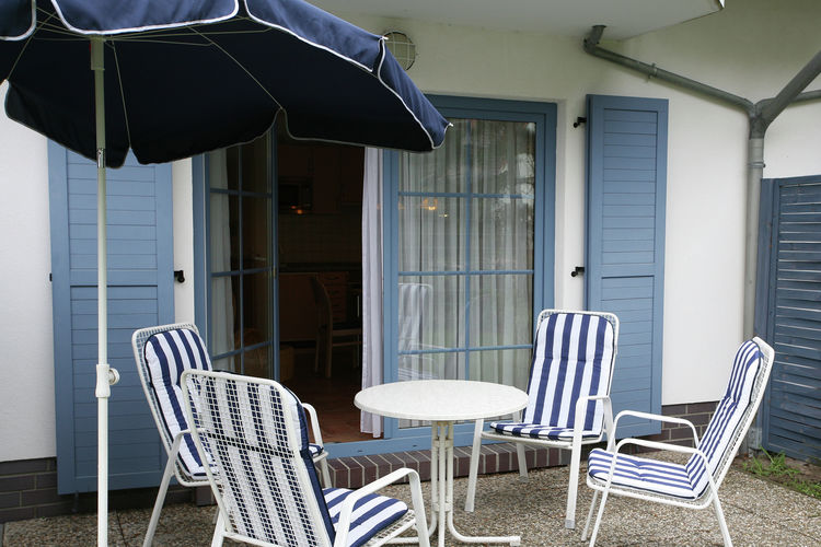 Appartement  met wifi  Dierhagen-StrandAkazie 23 mit Terrasse in Dierhagen