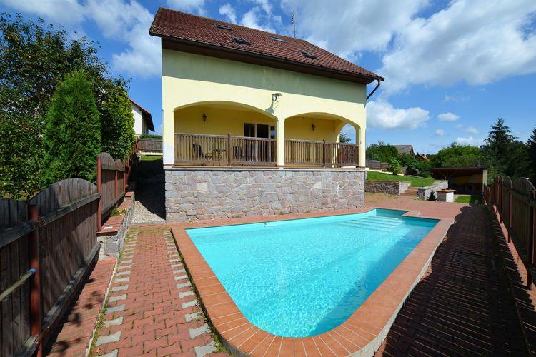 Vakantiewoning met zwembad met wifi  Sloupnice  Private Villa Justine met zwembad met overdekt terras in de omheinde tuin