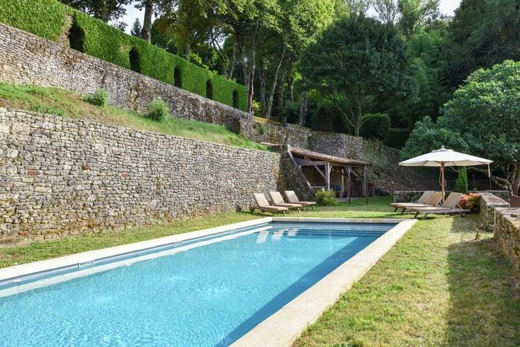 Vakantiehuizen Frankrijk | Dordogne | Vakantiehuis te huur in Saint-Germain-de-Belves met zwembad  met wifi 9 personen