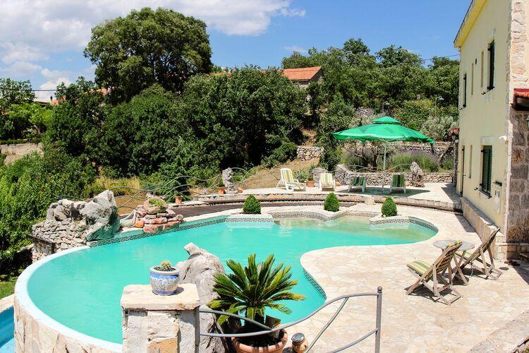 Kroatie | Dalmatie | Villa te huur in Grabovac-Goricaj met zwembad  met wifi 12 personen