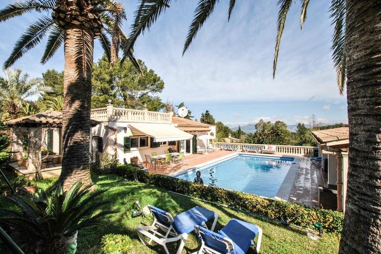 Vakantiehuizen Spanje | Mallorca | Villa te huur in Alcudia met zwembad  met wifi 10 personen