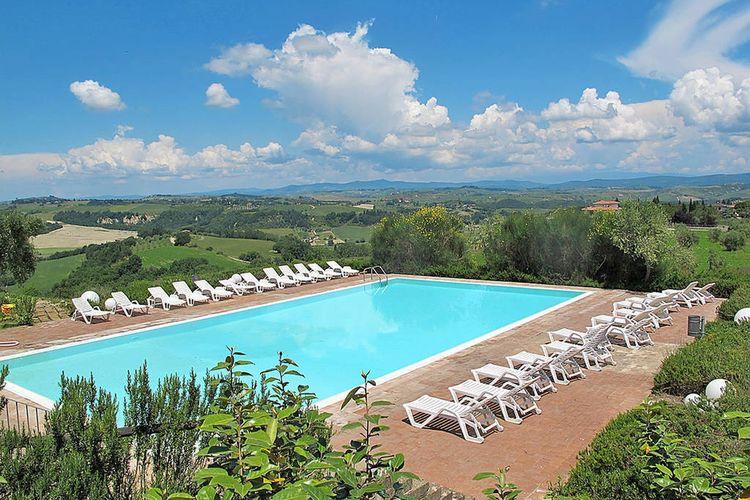 Vakantiehuizen Italie | Toscana | Vakantiehuis te huur in Asciano met zwembad  met wifi 6 personen
