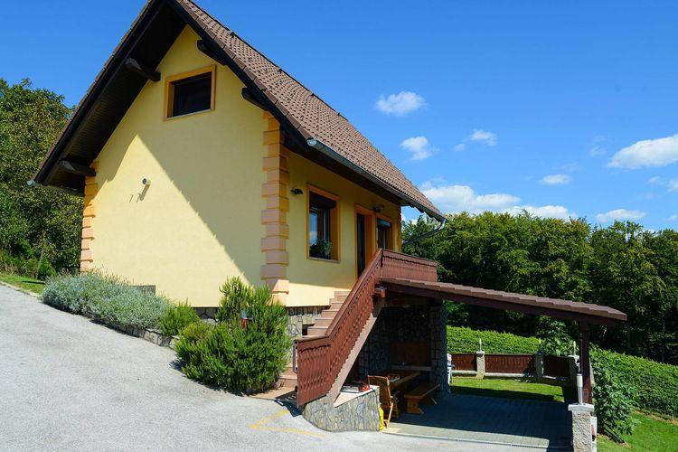 Wijnhuisje in een taditioneel Sloveens dorpje met uitzicht op de wijngaarden