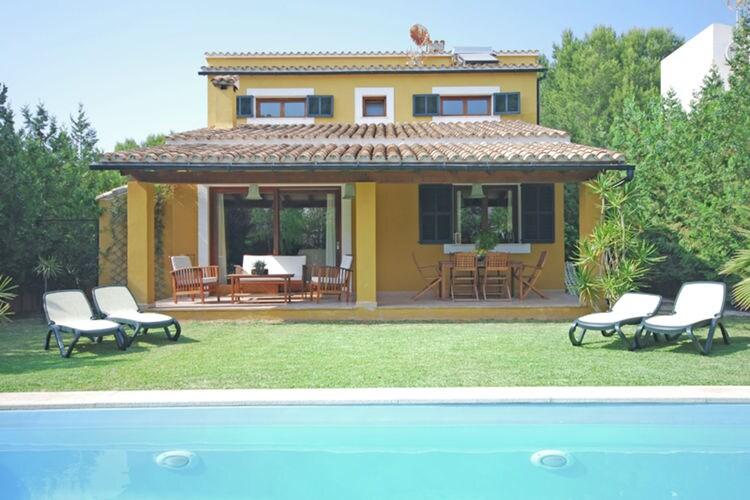 Vakantiehuizen Spanje | Mallorca | Vakantiehuis te huur in Alcudia met zwembad  met wifi 8 personen