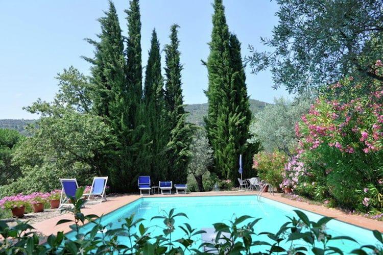 Italie | Toscana | Villa te huur in Cortona met zwembad  met wifi 8 personen