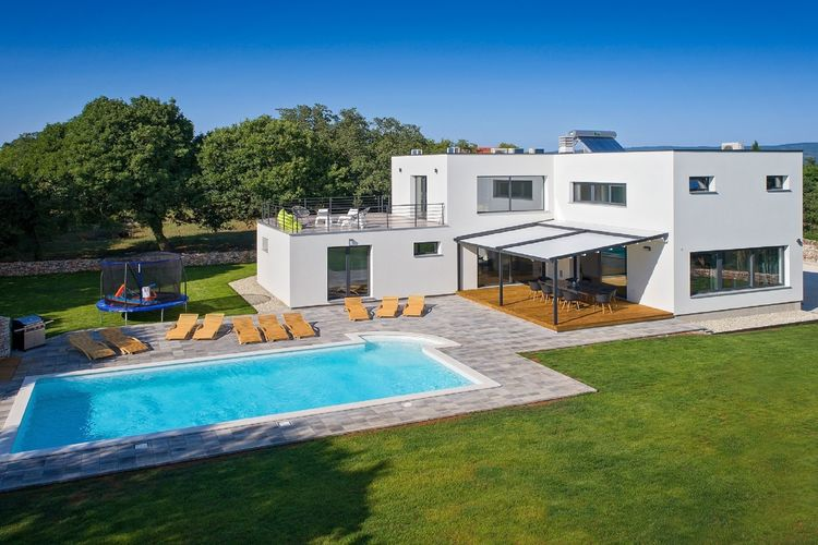 Kroatie | Istrie | Villa te huur in Belavii met zwembad  met wifi 10 personen