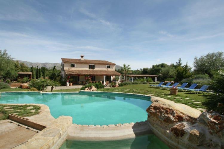 Vakantiehuizen Spanje | Mallorca | Vakantiehuis te huur in Pollenca met zwembad  met wifi 12 personen