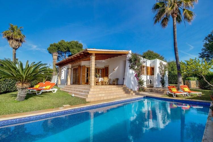 Vakantiehuizen Spanje | Mallorca | Vakantiehuis te huur in Porto-Cristo met zwembad  met wifi 6 personen