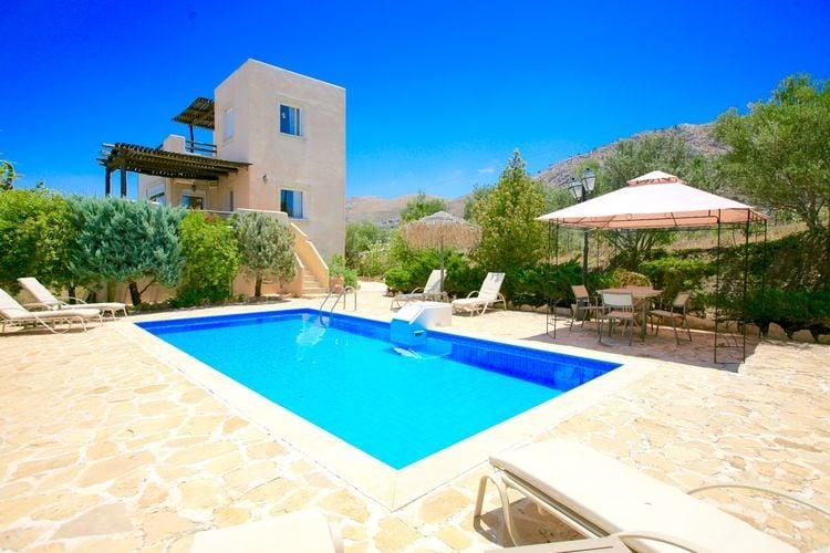 Villa met zwembad met wifi aan zee Listaros  Villa met privé zwembad en mooi zeezicht op Lybische zee, Zuid-west kust Kreta