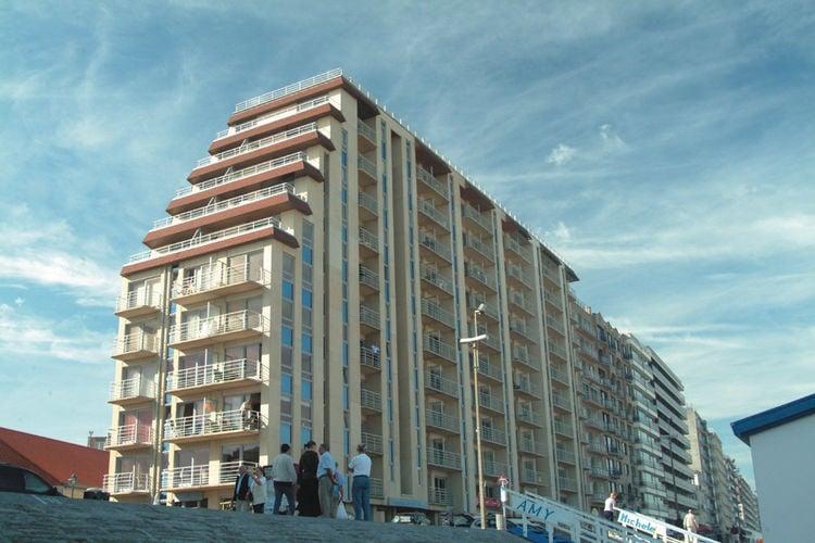 Blankenberge Vakantiewoningen te huur Gerenoveerd appartement met zeezicht, in residentie direct aan zee