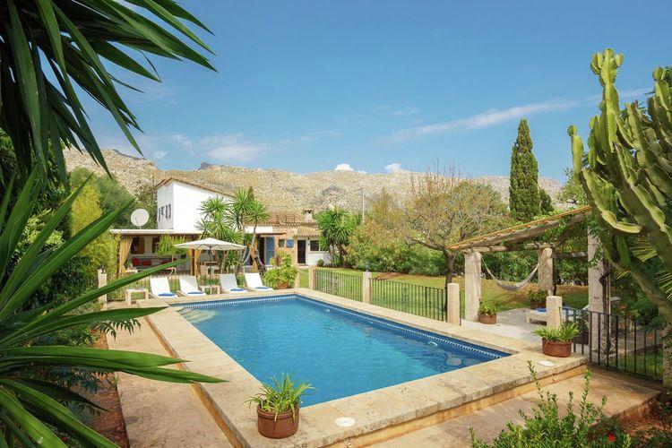 Vakantiehuizen Spanje   Mallorca   Vakantiehuis te huur in Pollenca met zwembad  met wifi 8 personen