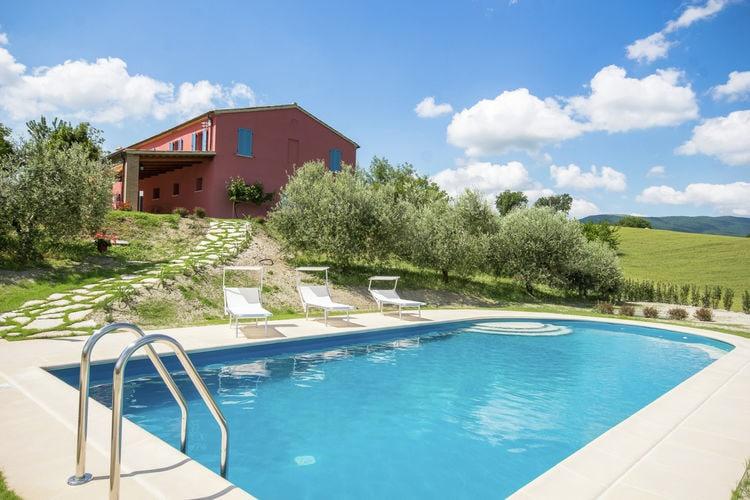 Vakantiehuizen Italie | Marche | Villa te huur in Fossombrone met zwembad  met wifi 8 personen