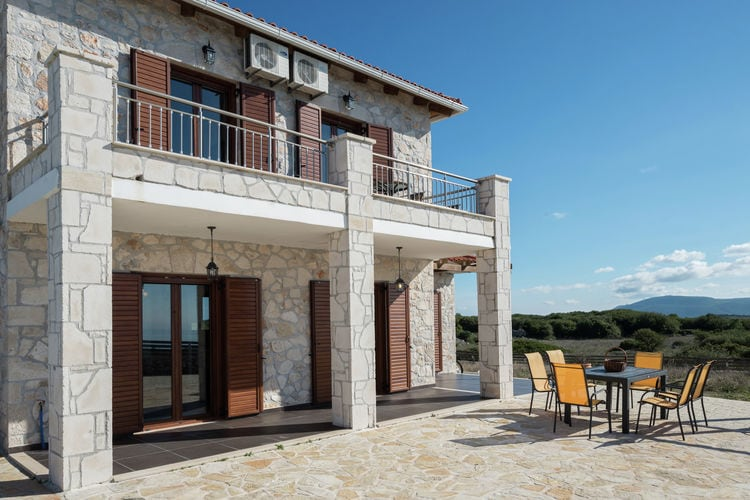 Volimes Vakantiewoningen te huur Nieuwe villa, privé zwembad, panoramisch uitzicht op de Ionische Zee, Zakynthos