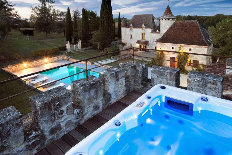 Frankrijk | Dordogne | Kasteel te huur in Saint-Caprais-de-Lerm met zwembad  met wifi 18 personen