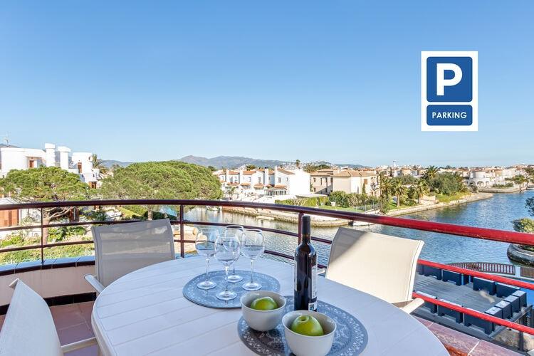 Vakantiehuizen Spanje | Costa-Brava | Appartement te huur in Empuriabrava   met wifi 6 personen